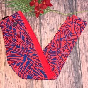 NWT Nike Red/Blue leggings, M